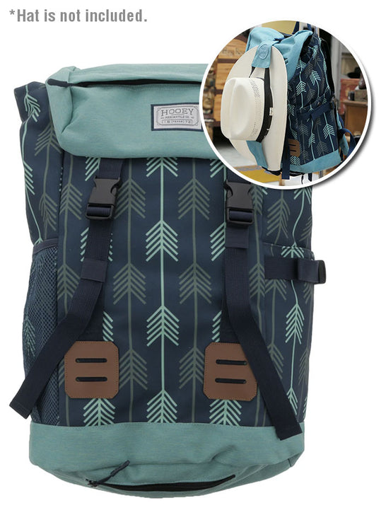 Hooey BP031NV Topper II Blue Hat Strap Performance Backpack Blue Front
