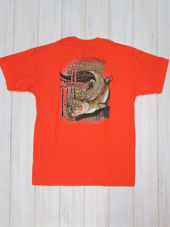 Guy Harvey Kids Swamp Hide Short Sleeve T-Shirt BTH1943 Orange