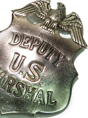 Deputy US Marshal Shield with Eagle Crest Replica Badge BW-28
