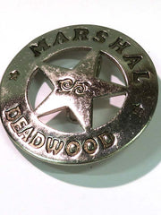 Marshal Deadwood Western Replica Badge BW-29 Close up