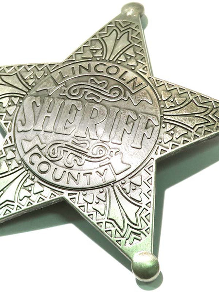 Sheriff Lincoln County Star Western Replica Badge BW-3