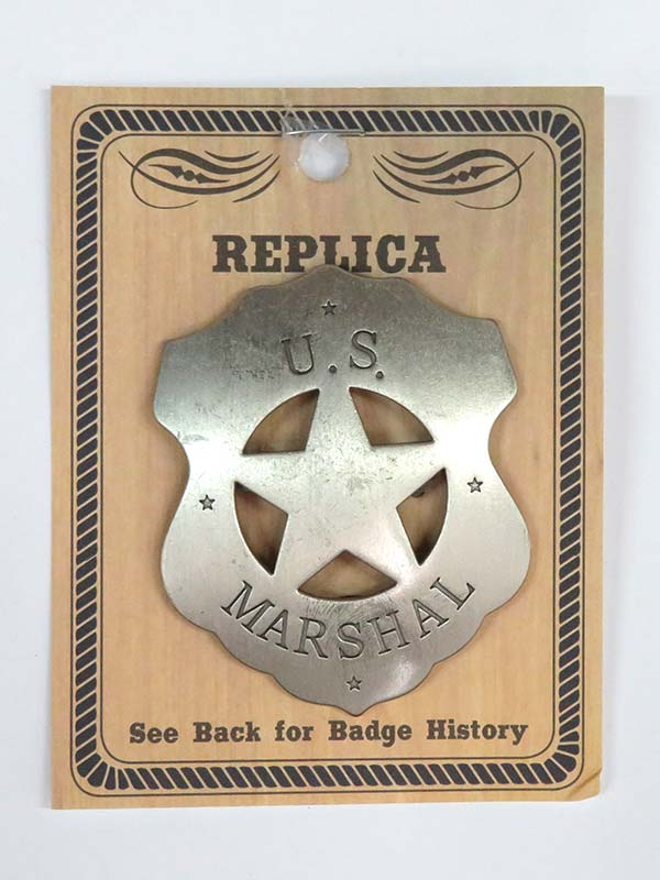 US Marshal Cutout Star Western Replica Badge BW-4