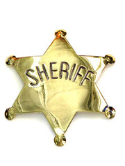 Sheriff Gold/Silver Western Replica Badge P572 Gold