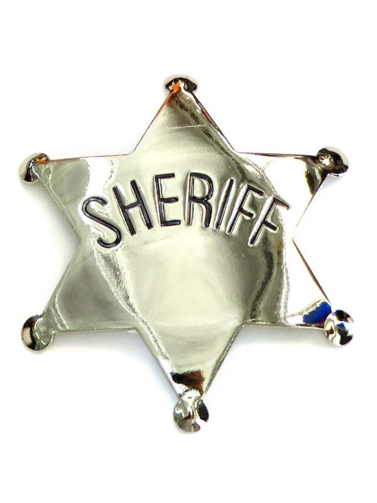 Sheriff Gold/Silver Western Replica Badge P572 Silver