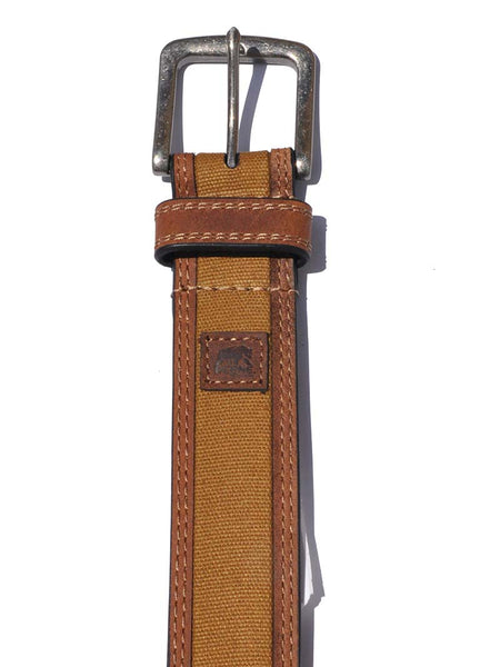 Berne Mens Leather Canvas Antique Nickel Work Belt 7511500 Berne - J.C. Western® Wear