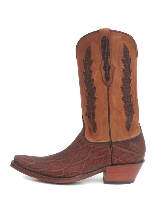 Black Jack Mens Elephant Vintage Chestnut Western Boot 1391-01 Side