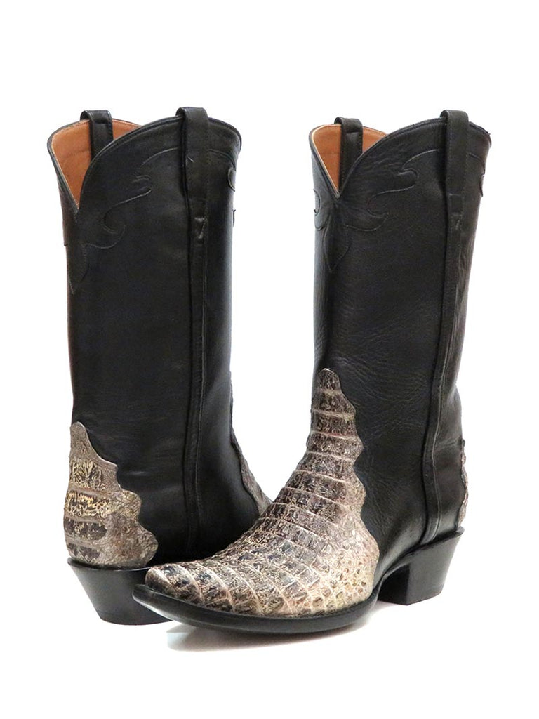 Black Jack Men's Horn Back Caiman Western Triad Boots 7124