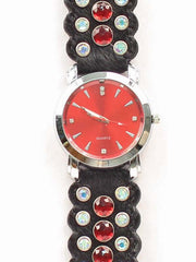 Blazin Roxx Hair-on-Hide Rhinestone Western Watch 3100401 3100402 Black