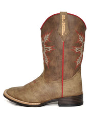 Double Barrel Clay Pull Tabs Brown Western Boot 4440544
