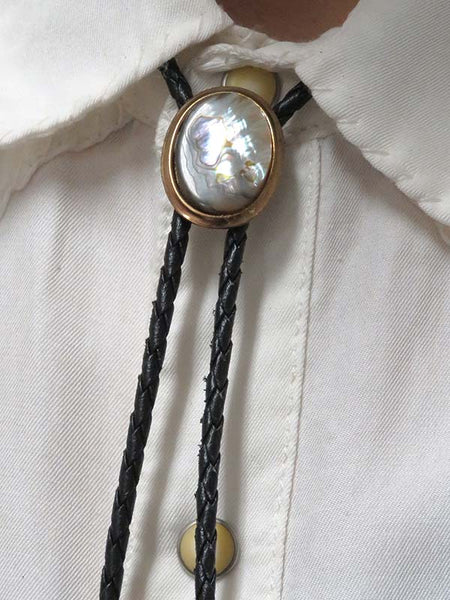 Rockmount Oval Abalone Shell Bolo Tie 46279