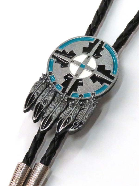Shield and Feather Made in USA Bolo Tie BT-604