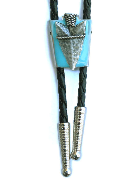Rockmount Arrowhead with Epoxy Turquoise Bolo Tie 43139 at JC Western Wear