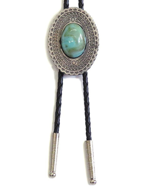 Aztec OVAL ENAMEL Classic Western Bolo Tie BT5001 close up