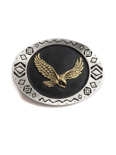 Antique Eagle USA Made Western Belt Buckle 5-90/W69