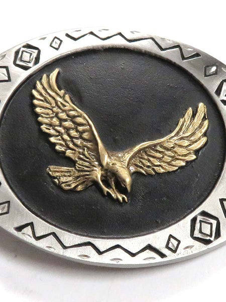 Antique Eagle USA Made Western Belt Buckle 5-90/W69 Front