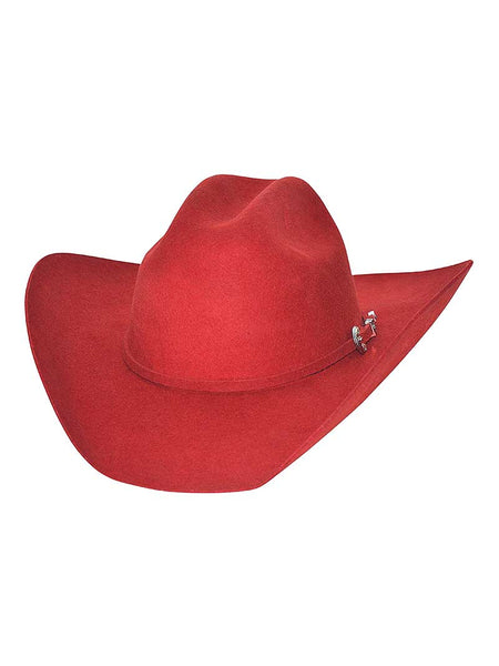 "Bullhide ""Kingman"" 4x Felt Red Hat with buckle Hatband 0550R"