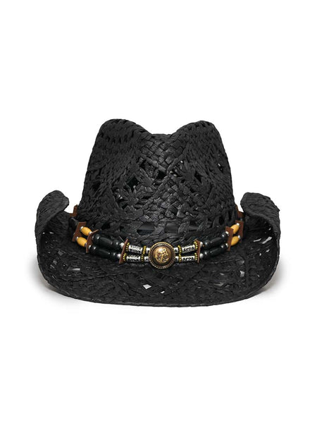 "Bullhide ""All Summer Long"" Natural Black Cowboy Hat 2542-BLK"