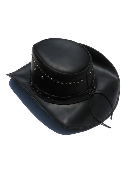 Bullhide Down Under Collection Burnt Dust Black Leather Hat 4015BL