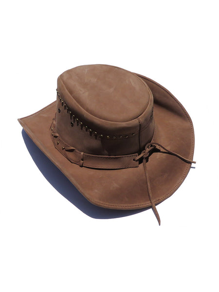 Bullhide Down Under Collection Burnt Dust Brown Leather Hat 4015BR