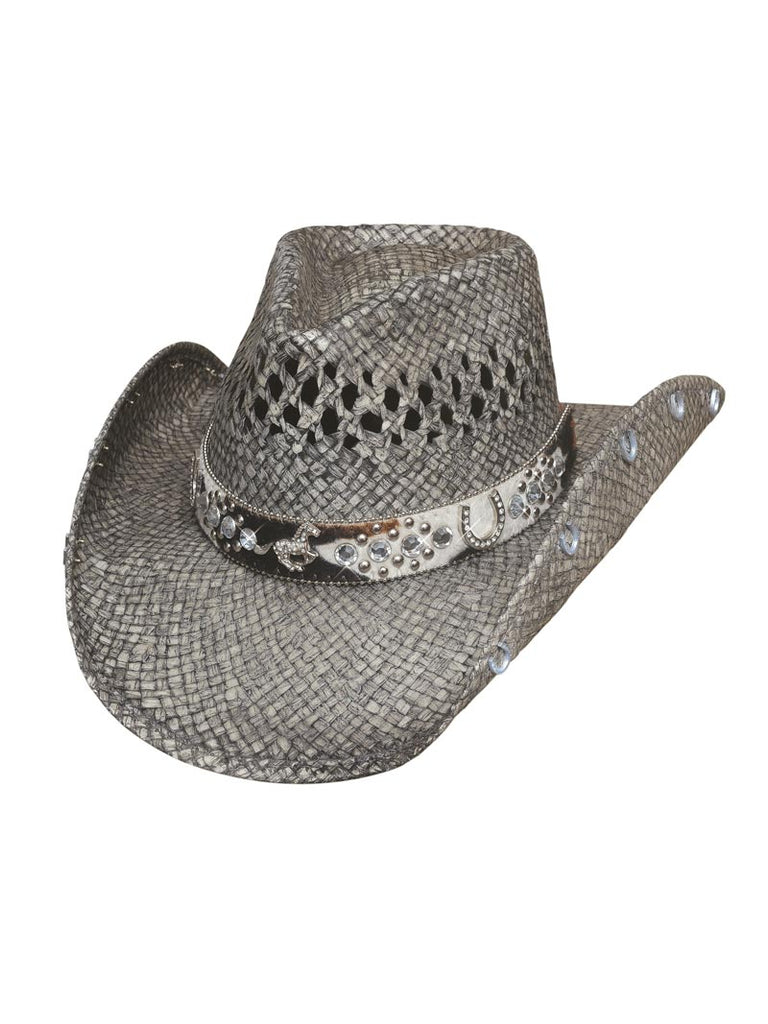 "Bullhide ""Facing Fears"" Gray Straw Western Hats 2833 Bullhide - J.C. Western® Wear"