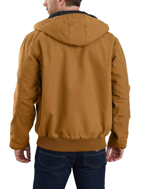 Carhartt 104050 Mens Washed Duck Insulated Active Jac Carhartt Brown Back