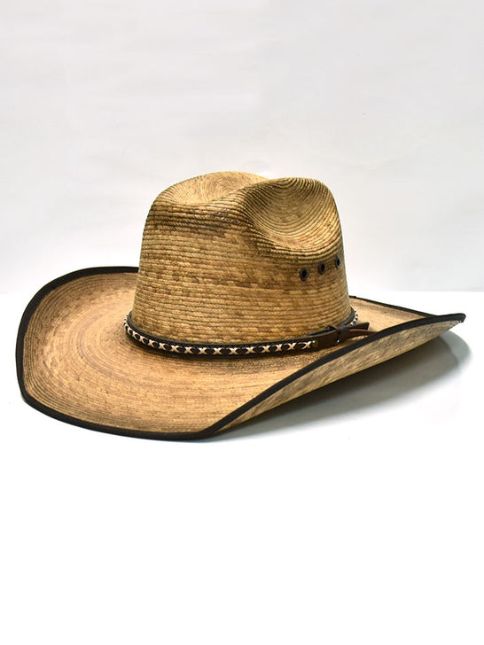 Dallas Hats CAT 20X KJ B Kids Palm Leaf Cattleman Hat Natural