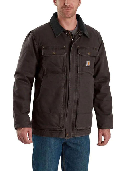 Carhartt 103283 Mens Full Swing Armstrong Traditional Insulated Jackets Dark Brown 103283-201