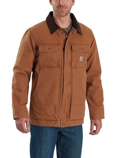 Carhartt 103283 Mens Full Swing Armstrong Traditional Insulated Jackets Brown 103283-211