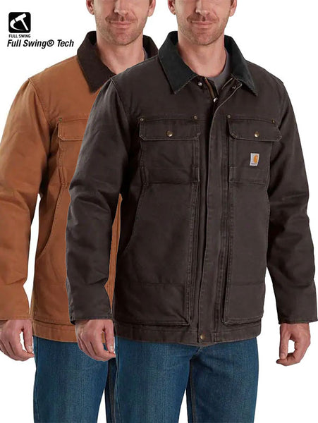 Carhartt 103283 Mens Full Swing Armstrong Traditional Insulated Jackets Brown and DARK BROWN