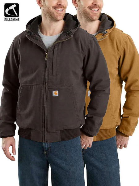 Carhartt 103371 Mens Full Swing Armstrong Active Hooded Jackets Brown and Dark Brown