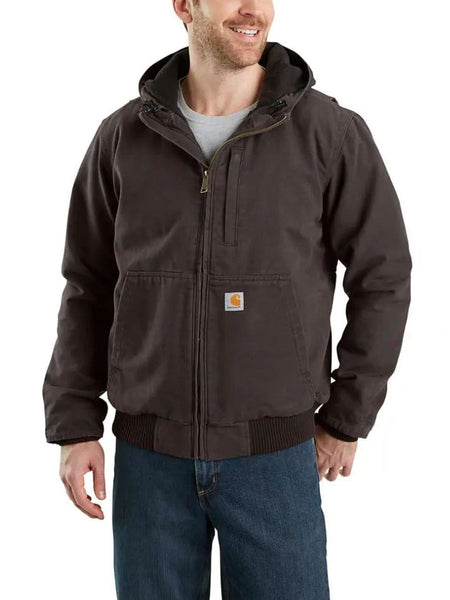 Carhartt 103371 Mens Full Swing Armstrong Active Hooded Jackets Dark Brown 103371-201