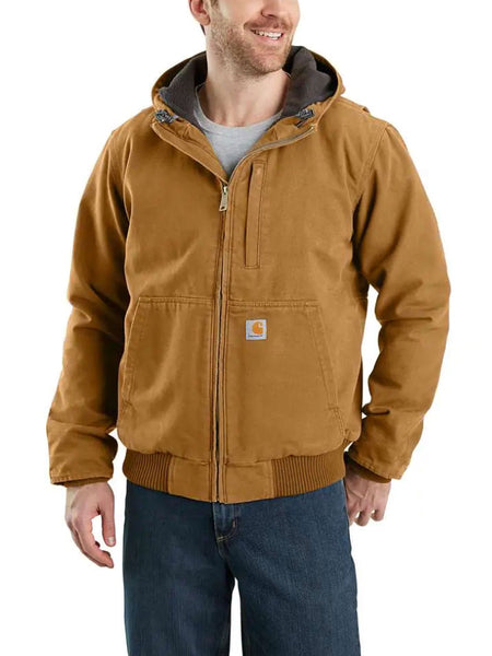 Carhartt 103371 Mens Full Swing Armstrong Active Hooded Jackets Brown 103371-211