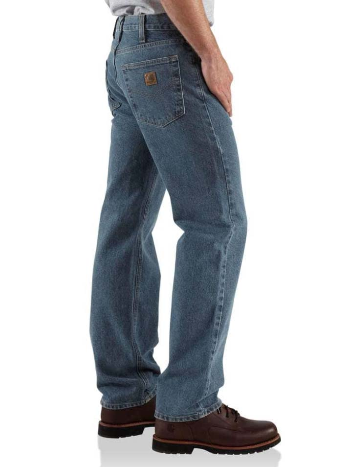 268d1d70822 ... Carhartt Mens Deep Stone Traditional Fit Straight-Leg Jeans B480-DPS