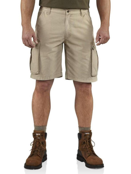 "Carhartt Mens 11"" Relaxed Fit Rugged Cargo Shorts 100277  232 Tan Front"