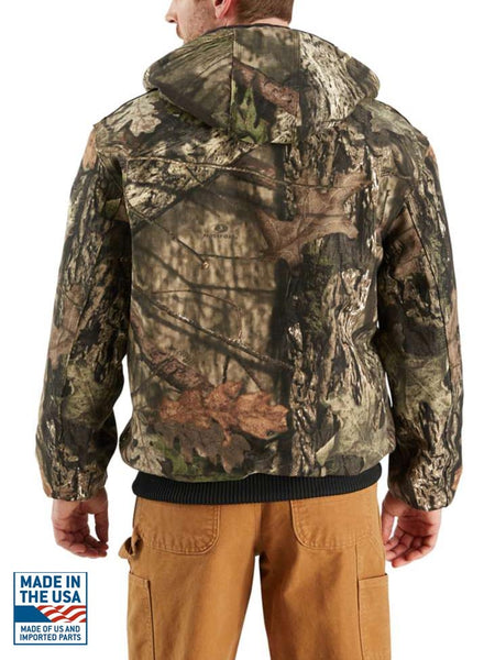 Carhartt J221 Mens Camo Quilted Flannel-Lined Active Jac Mossy Oak Back