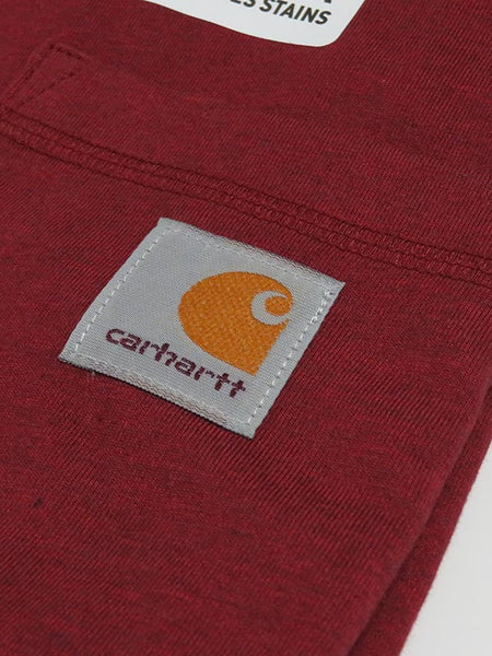 Carhartt 100410 Mens Force Cotton Delmont Short Sleeve T-Shirt Brown Heather pocket