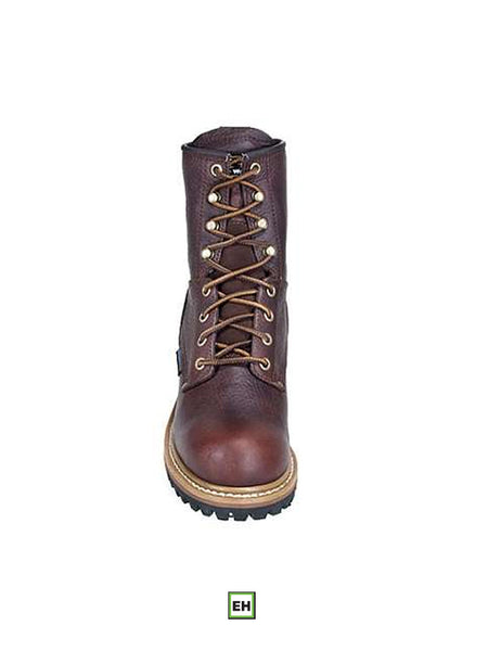 "Carolina CA1421 Womens 8"" Logger Steel Toe Work Boot - B"