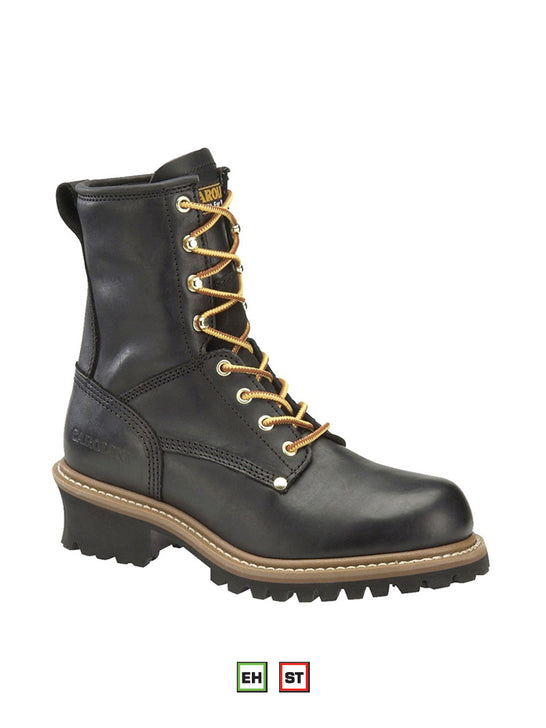 "Men's 8"" Carolina Steel Toe Logger Boot CA1825 - J.C. Western® Wear"