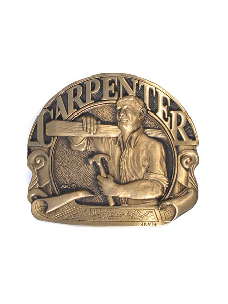 Carpenter Solid Brass US Made Belt Buckle 5322 Spec Cast - J.C. Western® Wear