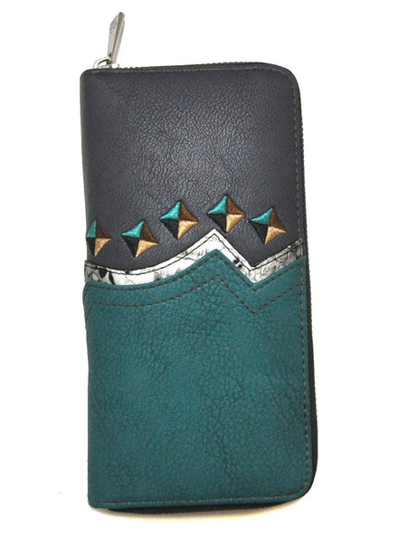 CatchFly Embroidered Python Accent Western Leather Wallet CFW11 J.C. Western® Wear - J.C. Western® Wear