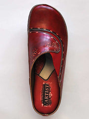 Women's Spring Step Chino Red Slip On Clog - L'Artiste Collection CHINO-R