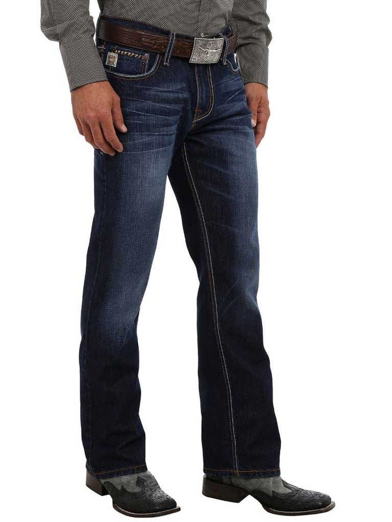 Cinch Men's Ian Slim Fit Bootcut Dark Wash Jeans MB72736001 Cinch - J.C. Western® Wear