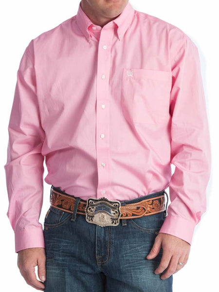 Men's Cinch Light Pink Pinpoint Oxford Long Sleeve Shirt MTW1103801 Cinch - J.C. Western® Wear