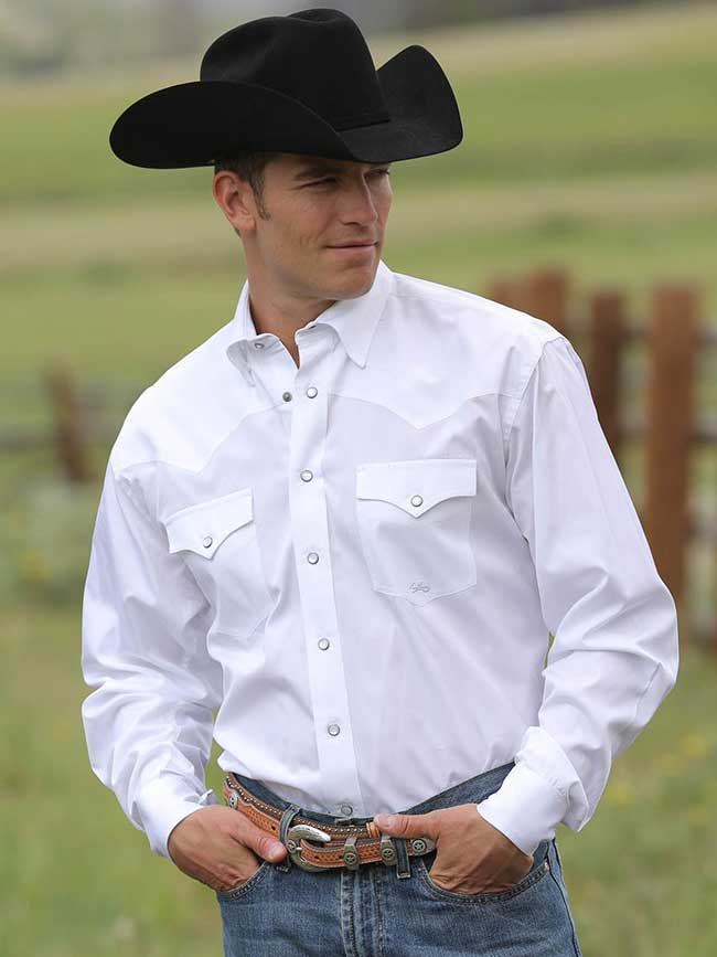 e6259b81 Miller Ranch Long Sleeve Solid White Snap Shirt DTW2201034. NEXT. PREV. Zoom
