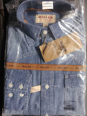 Miller Ranch Long Sleeve Chambray Button Down Shirt DTW2201064