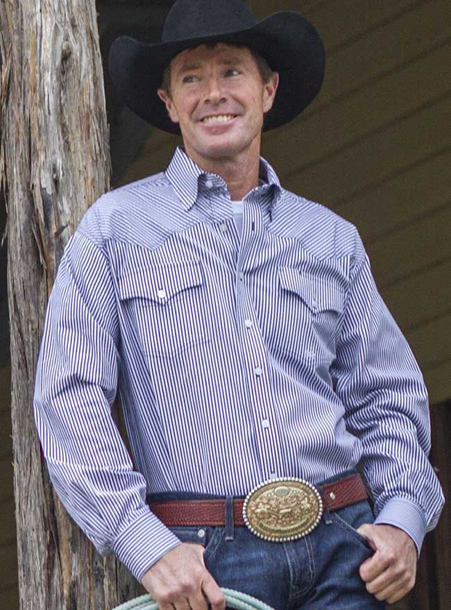 Cinch Miller Ranch Long Sleeve Button Down Stripe Shirt DTW2201066
