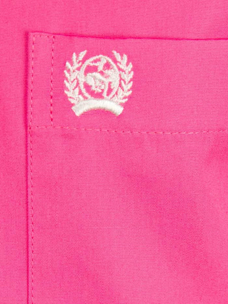 Cinch Men's Long Sleeve Hot Pink Solid Fine Weave Shirt MTW1103320 Cinch - J.C. Western® Wear
