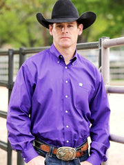Cinch Men's Long Sleeve Royal Purple Plain Weave Shirt MTW1103802 Cinch - J.C. Western® Wear