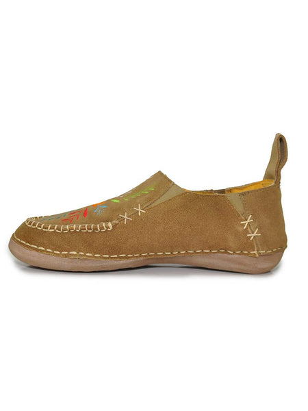 Cinch CCW3021 Womens Embroidered Slip On Shoes TAN Side View