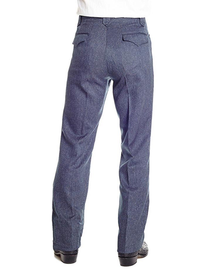 Circle S Mens Heather Navy Western Dress Ranch Pants CP4776
